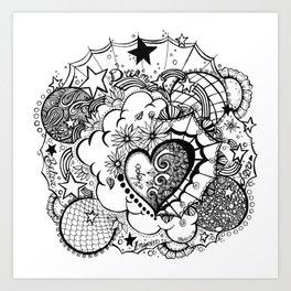 Affirmation Doodle  Art Print