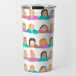 Faces in a Crowd Travel Mug