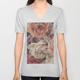 Great Garden Roses,peach Unisex V-Neck
