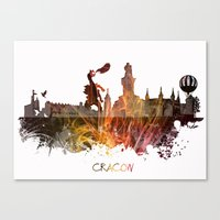 poland Canvas Prints featuring Cracow Poland by jbjart