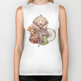 The King with the Lion Biker Tank