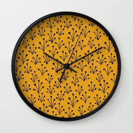 Autumn Pattern Wall Clock