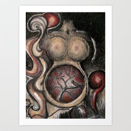 The early bird gets the womb Art Print