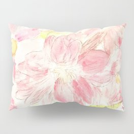 Abstract Red Daisies Pillow Sham