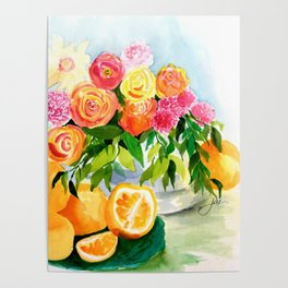 Lidy's Flowers Poster
