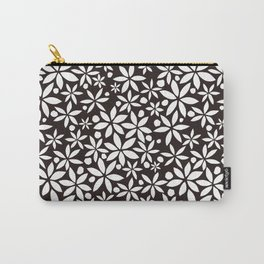 Monochrome paper cut flowers pattern Carry-All Pouch