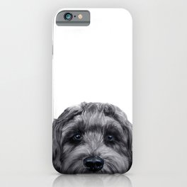 Labradoodle black Original painting by miart iPhone Case