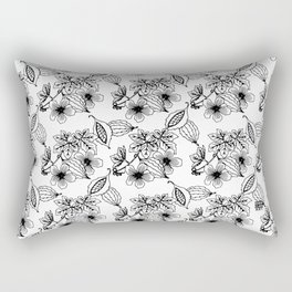 Dancing Cushions - Ceracee B&W Rectangular Pillow