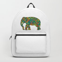 Vintage elephant with tribal ornaments Backpack