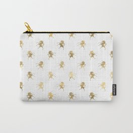 Gold Unicorn Pattern Carry-All Pouch