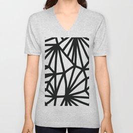 Modern Black and White geometric pattern #abstractart #decor Unisex V-Neck