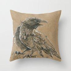Raven / Crow Throw Pillow