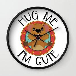 Quokka Australia Kangaroo Marsupial Hug Me Wall Clock