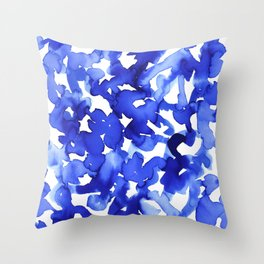Energy Blue Throw Pillow