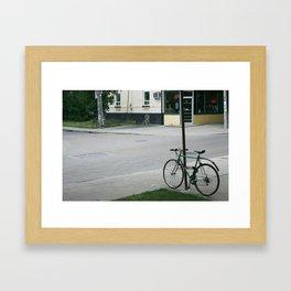 vintage city bike Framed Art Print