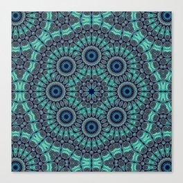 Water Mandala Canvas Print