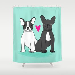 French Bulldog valentines day love gift for small dog person with frenchie cute puppy dog valentines Shower Curtain