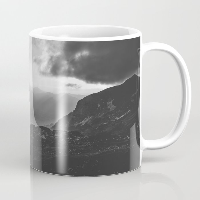 Valley - black and white landscape photography Coffee Mug