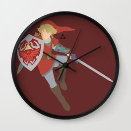 Link(Smash)Red Wall Clock