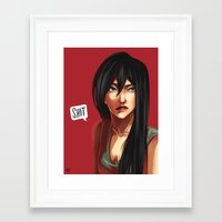 shit Framed Art Prints featuring SHIT by Mica Karaman