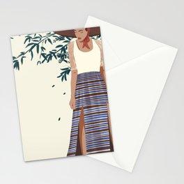 Modern Filipina Farm Girl  Stationery Cards
