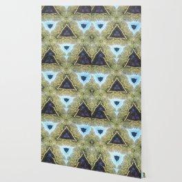 Modern Moroccan Purple and Blue Wallpaper