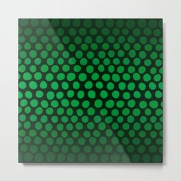 Emerald Green Ombre Dots Metal Print