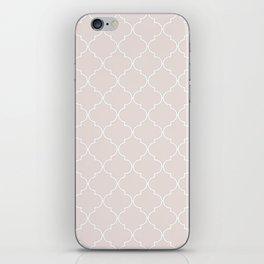 Almost Mauve Quatrefoil iPhone Skin
