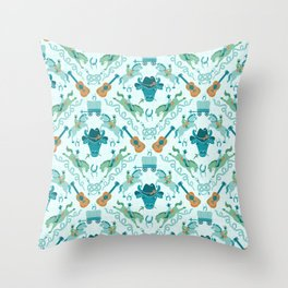 Cowboy Damask Throw Pillow