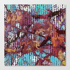 Multicolored nature abstract Canvas Print