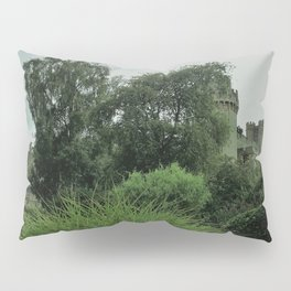 Warwick Castle Bathed in Green Light Pillow Sham