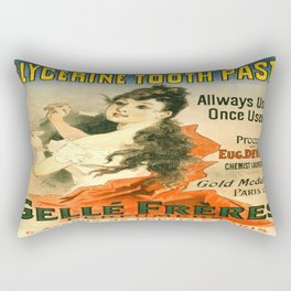 Vintage poster - Glycerine Toothpaste Rectangular Pillow