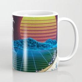 Synthwave Space #9: The Great Wave off Kanagawa Coffee Mug