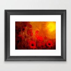 FLOWERS - Poppy heaven Framed Art Print
