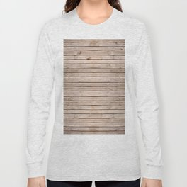 Weathered boards texture abstract Long Sleeve T-shirt