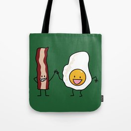 Egg and Bacon Strip Breakfast Combo Tote Bag