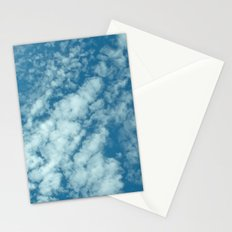 Fluffy clouds in a blue sky Stationery Cards