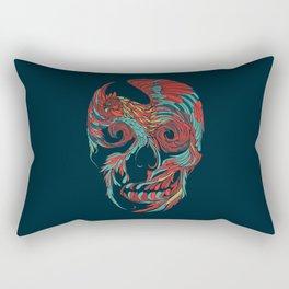 Rooster Skull Rectangular Pillow