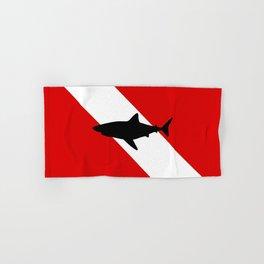 Diving Flag: Shark Hand & Bath Towel