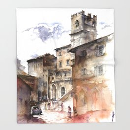 Cortona, Italy Throw Blanket