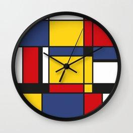 Downtown, Tribute to Mondrian Wall Clock