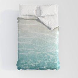 Soft Blue Gray Ocean Dream #1 #water #decor #art #society6 Comforters