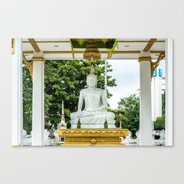 Wat Si Saket White Marble Buddha, Vientiane, Laos Canvas Print