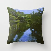 turkey Throw Pillows featuring Turkey Creek by Roger Wedegis