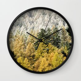 Colours Of The Forest Wall Clock