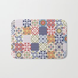 Portuguese pattern color Bath Mat