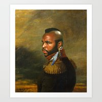 replaceface Art Prints featuring Mr. T - replaceface by replaceface