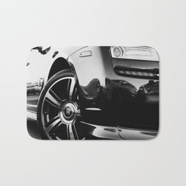 Rolls Rims // Black and White Luxury Super Car Photography Real Life Street Shots Bath Mat