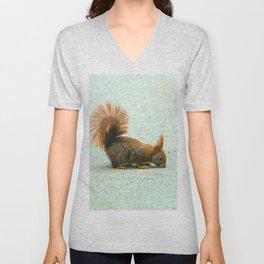 Cute squirrel - retro look Unisex V-Neck