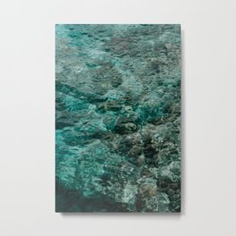 Blue Ocean Waters | Minimalistic Travel Photography | Curaçao, Caribbean, Central-America Metal Print